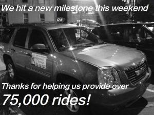 DD hits 75,000 rides
