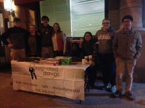 Our volunteers on Friday night!